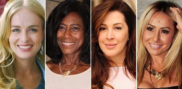 Angélia, Glória Maria, Cláudia Raia e Sabrina Sato revelaram ao UOL seus segredos de beleza - Divulgação/TV Globo e AgNews