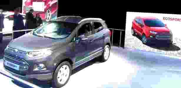 EcoSport foi exposto no estande da Ford no Salão de Paris apenas nos dias de imprensa - Divulgação