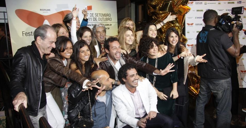 """Equipe do filme """"Primeiro Dia de um Ano Qualquer"""", do diretor Domingos de Oliveira (30/9/12)"""