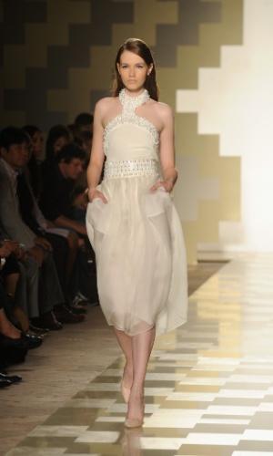 Desfile de Mila Schon na semana de moda de Milão Primavera/Verão 2013 (19/09/2012)