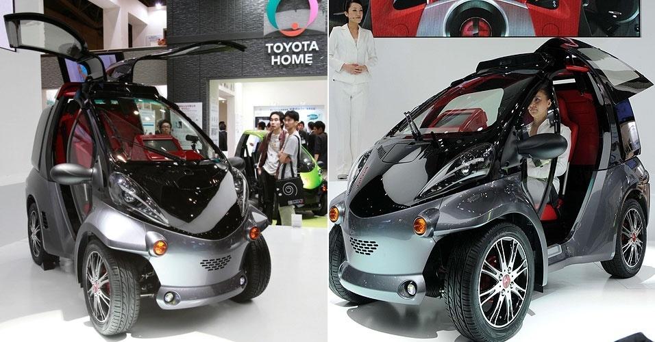 2.out.2012 - O veículo chamado Smart Insect, da Toyota, usa tecnologia de reconhecimento facial para se comunicar com o motorista. O carro conceitual foi exibido na feira Ceatec, realizada em Tóquio, no Japão