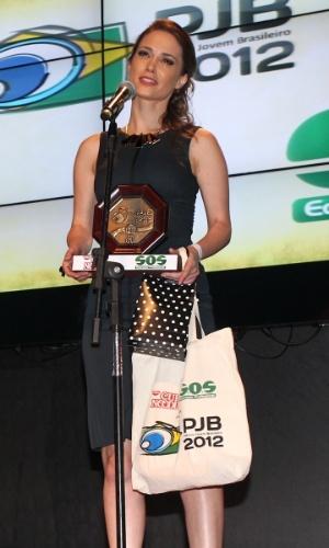 A atriz Rosanne Mulholland recebe prêmio durante o 11º Prêmio Jovem Brasileiro no Memorial da América Latina, em São Paulo. O prêmio homenageia os jovens talentos brasileiros em 21 categorias, concedido após votação de júri composto por jornalistas, colunistas, críticos e por votação na internet (1/10/12)