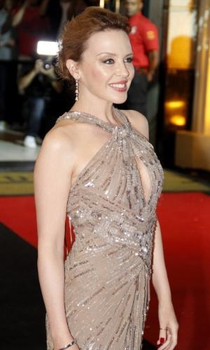 """A cantora Kylie Minogue antes da exibição de """"Holy Motors"""" no Festival do Rio (2/10/12)"""