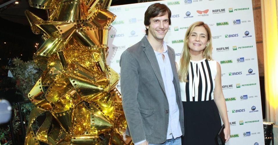 """Adriana Esteves e Vladimir Brichta na pré estréia do filme """"Coleção invisivel"""" no Festival do Rio, no Cine Odeon, Centro (2/10/12)"""