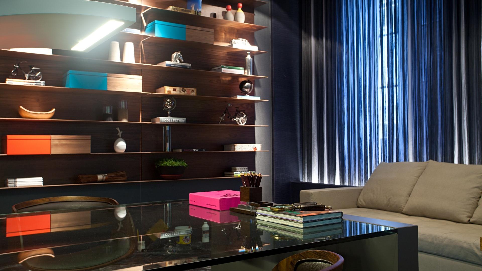 Ana Lila Denton e Juarez Farias Jr. criaram um Home Office predominentemente cinza lápis. A Casa Cor RJ vai de 03 de outubro a 19 de novembro de 2012, no Rio de Janeiro