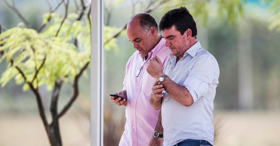 Andrés Sanchez acompanhou o treino da seleção nesta terça-feira