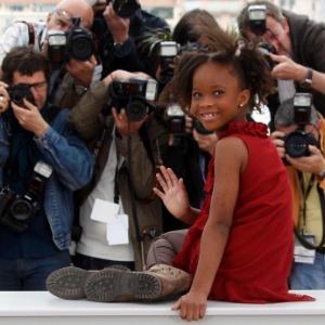 """Atriz Quvenzhané Wallis, protagonista de """"Indomável Sonhadora"""", no Festival de Cannes 2012 (19/5/2012) - Jean-Paul Pelissie/Reuters"""