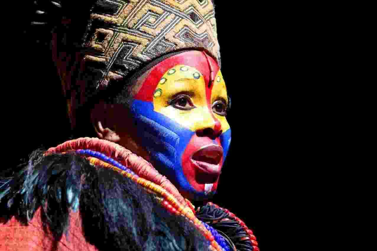 """Cena do musical """"O Rei Leão"""", que estreia no Brasil em março de 2013. A peça é inspirada em contos bíblicos e Shakespeare e tem trilha sonora de Gilberto Gil (2/10/12) - Orlando Oliveira/AgNews"""