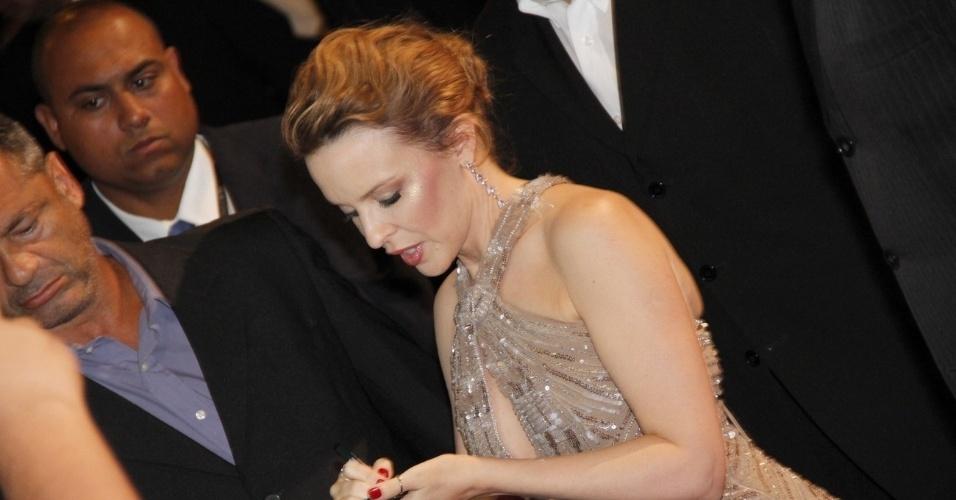 """Kylie Minogue antes da exibição do filme """"Holy Motors"""" no Cine Odeon BR, no Festival do Rio (2/10/12)"""