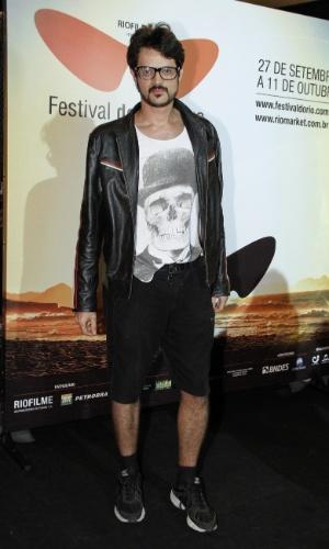 """O ator Alamo Faco na pré estréia do filme """"Coleção Invisível"""" no Festival do Rio, no Cine Odeon, Centro (2/10/12)"""