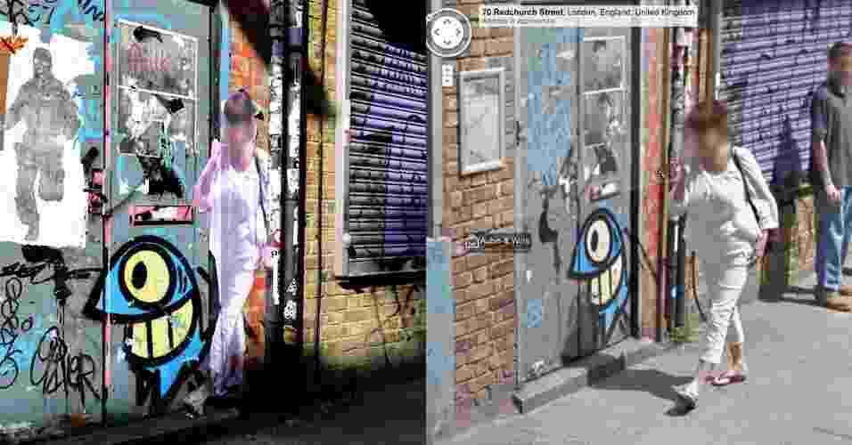 Street Ghosts - projeto do artista Paolo Cirio com imagens do Street View - Paolo Cirio e Reprodução/Google Street View