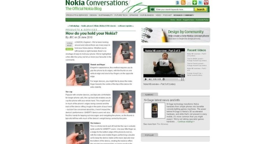 A Apple recebe provocações (em forma de propagandas, mensagens na web ou declarações de seus executivos) de seus concorrentes e outras empresas com muita frequência. Em um post em seu blog oficial, a Nokia sugere que os usuários de seus produtos segurem os smartphones da marca como quiserem, em referência ao problema de interferência no sinal do iPhone 4, dependendo da forma com que ele é segurado