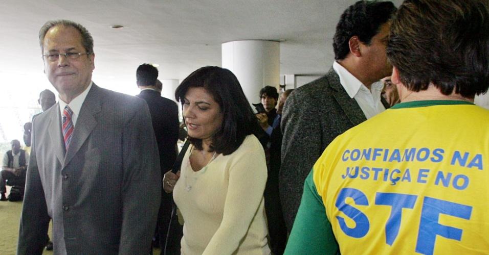 Deputado José Dirceu no salão verde da Câmara dos Deputados