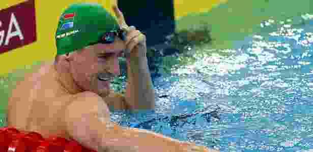 Medalhista olímpico e recordista mundial, o sul-africano Cameron Van Der Burgh faturou os 100m peito em Dubai - AFP