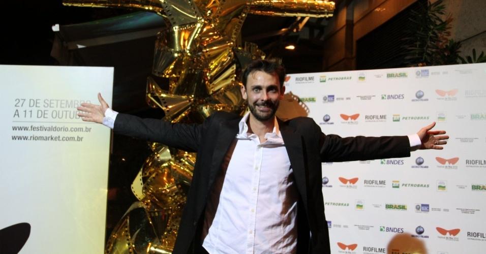 """O ator Ivo Muller na pré-estreia do filme """"Tabu"""", no Cine Odeon BR, durante o Festival do Rio (3/10/12)"""