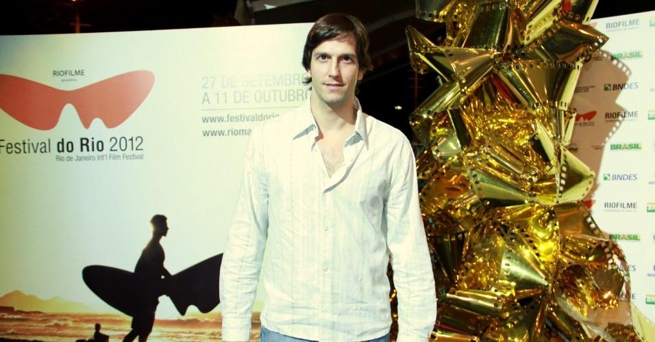 """O ator Vladimir Brichta na estreia do filme """"A Busca"""" no Festival do Rio, no Cine Odeon, centro, Rio de Janeiro (3/10/12)"""