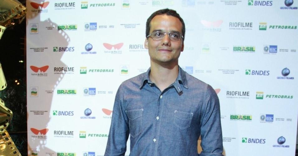 O ator Wagner Moura na estreia de seu filme