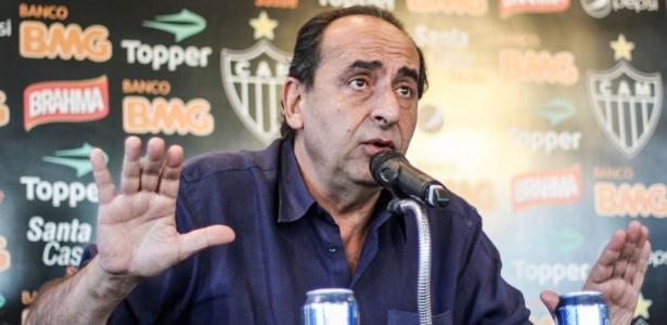 Presidente do Atlético-MG, Alexandre Kalil, se revoltou contra a arbitragem do jogo com o Botafogo - Bruno Cantini/Site do Atlético-MG
