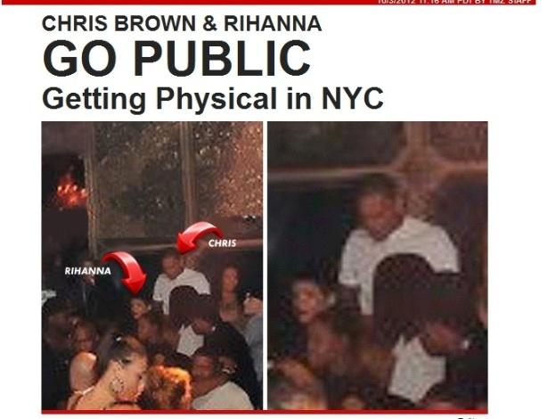 Rihanna e Chris Brown são fotografados juntos em uma casa noturna em Nova York (3/10/12)