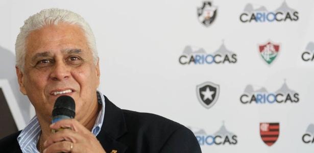 Roberto Dinamite, presidente do Vasco, em evento dos clubes cariocas (03/10/2012)