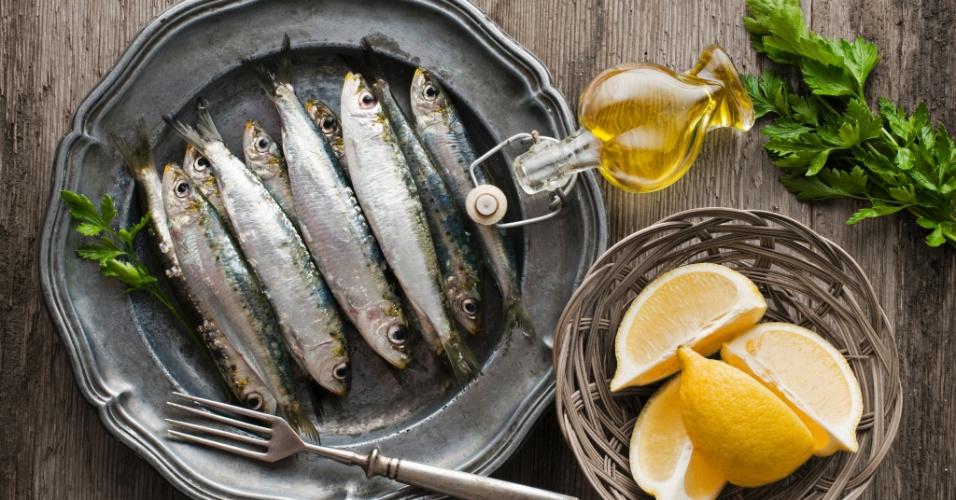 sardinhas, sardinha, limão, azeite