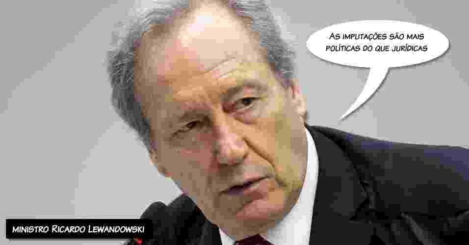 """4.out.2012 - """"As imputações são mais políticas do que jurídicas"""", afirmou o ministro Ricardo Lewandowski ao apontar a falta de provas para condenar o ex-ministro José Dirceu - Nelson Jr./STF"""