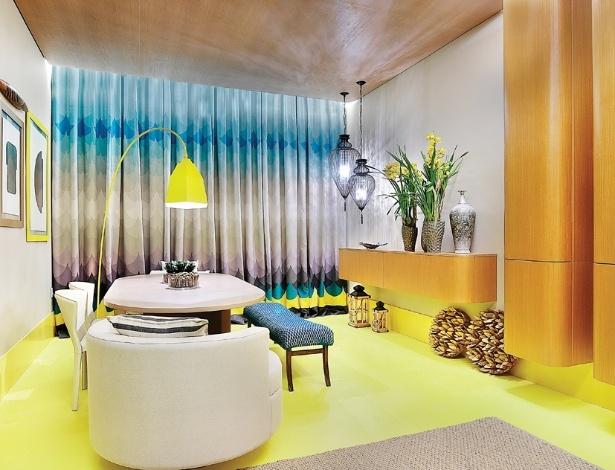 Sala de Almoço criada por Cláudia Macedo para a 3ª edição do Polo Design Show, no ABC - Divulgação