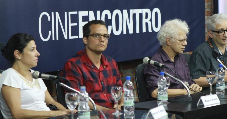 O ator Wagner Moura participa de debate no Festival do Rio (4/10/12)
