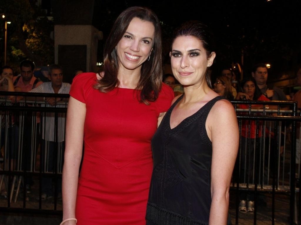 As atrizes Ana Paula Araújo e Fernanda Paes Leme antes da exibição do curta