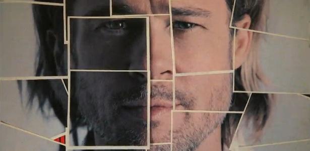 Durante o vídeo, é possível ver a primeira imagem de Brad Pitt como garoto-propaganda do Chanel Nº 5 - Reprodução