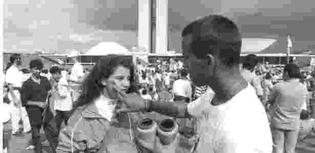 Caras-pintadas: estudantes saíram às ruas para exigir o impeachment de Collor em 1992 - Sergio Lima/ABr