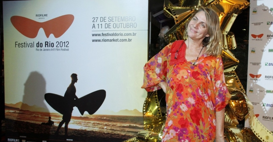 """Carla Camurati prestigiou a exibição do filme """"Marina Abramovic - Artista Presente"""", no Cine Odeon BR, no centro do Rio (5/10/12)"""