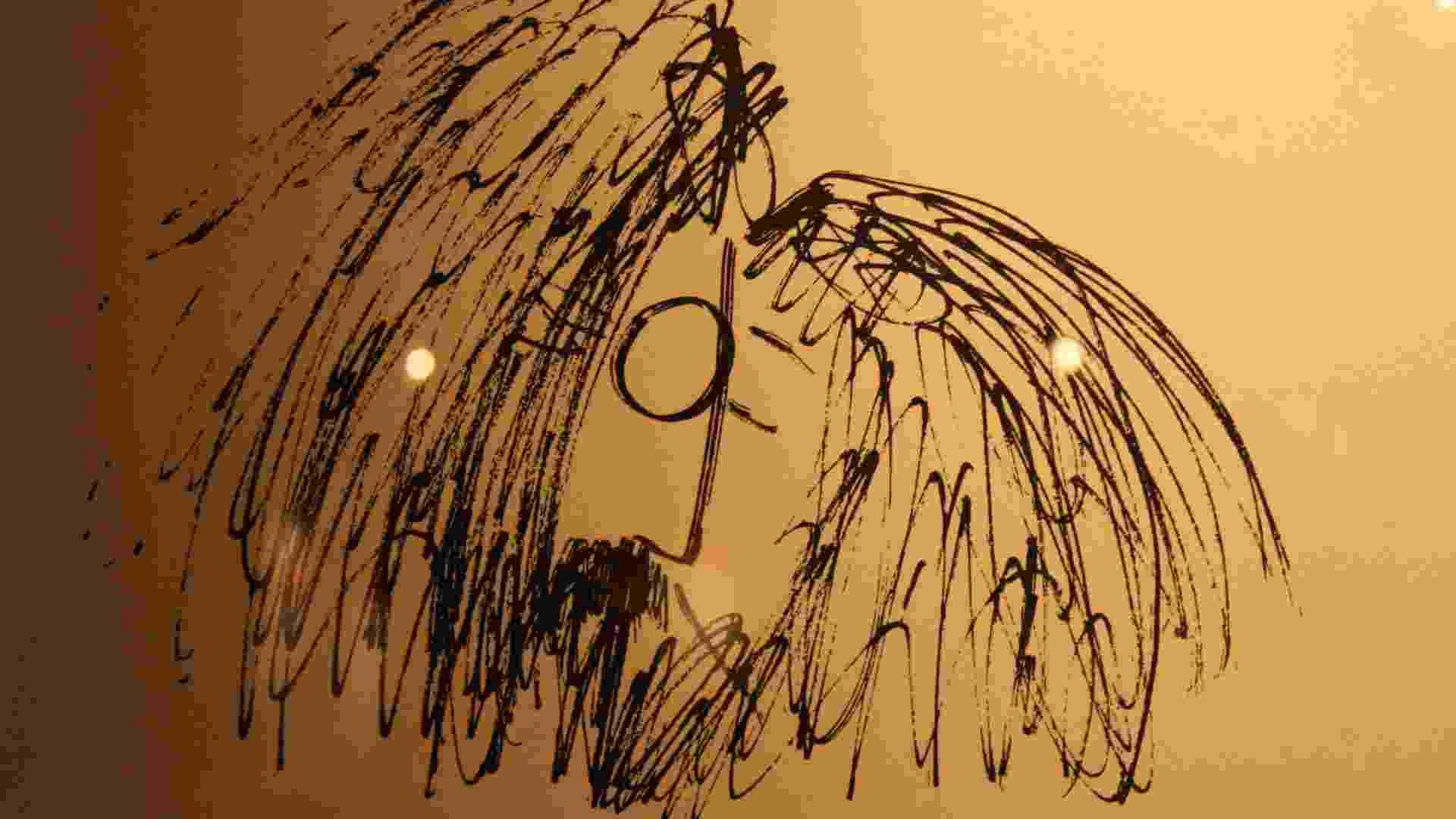 Detalhe de um dos desenhos de John Lennon em exposição em galeria no Soho, em Nova York (4/10/12) - EFE/Jessica Martorell