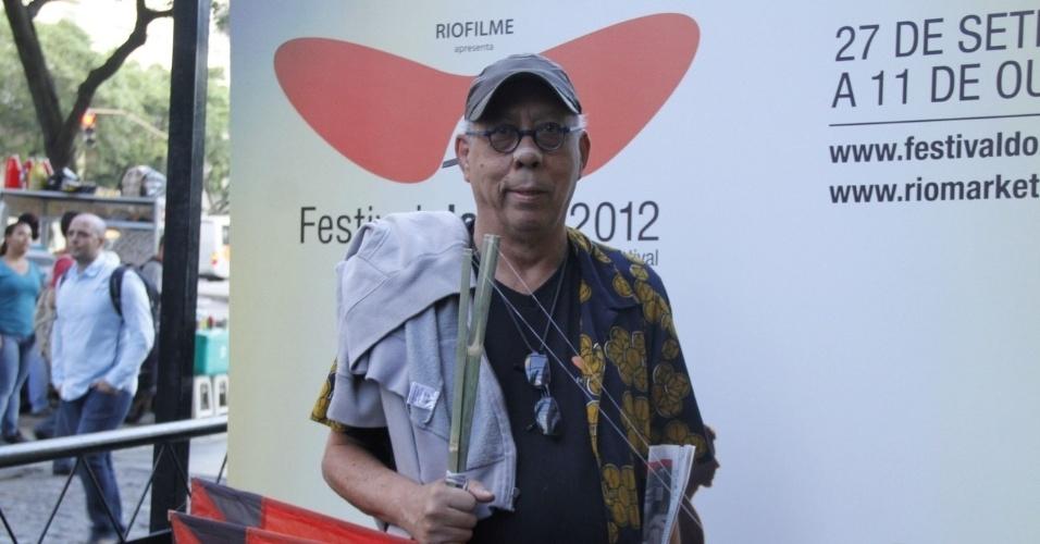 """O músico Jards Macalé na exibição do documentário """"Hélio Oiticica"""", no Cine Odeon BR, centro do Rio (5/10/12)"""