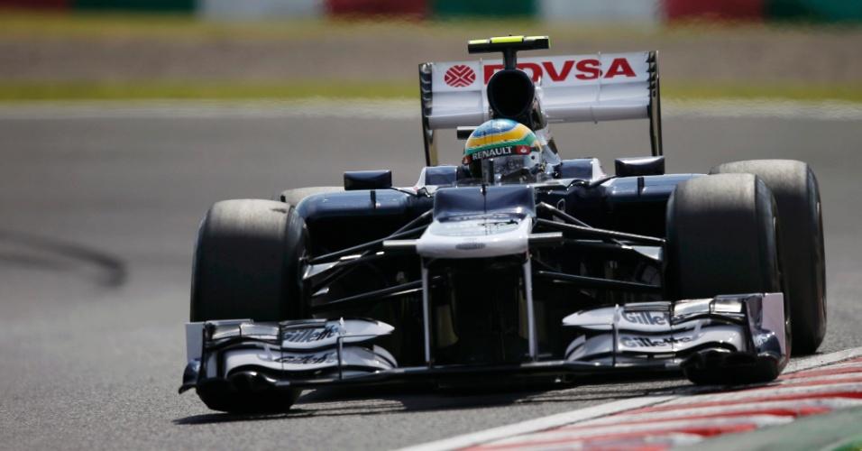 Bruno Senna pilota sua Williams durante o treino de classificação para o GP do Japão