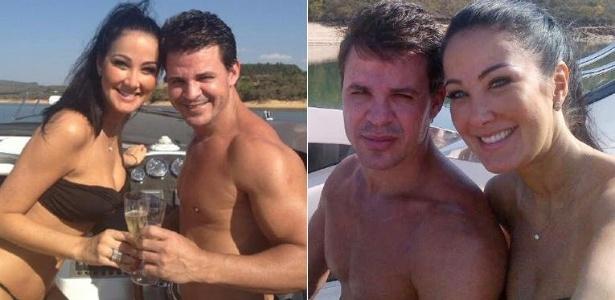 Helen Ganzarolli e o namorado, o sertanejo Eduardo Costa (outubro/2012)