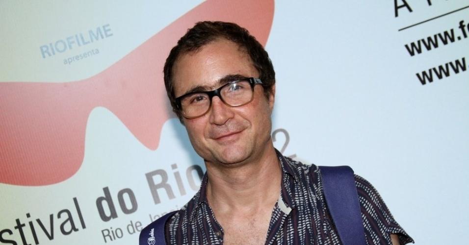 """O ator João Miguel na exibição do filme """"O som ao redor"""" no Cine Odeon (6/10/12)"""