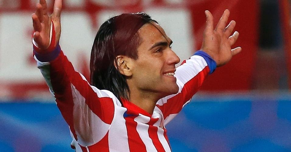 Falcao comemora gol na vitória do Atlético de Madri