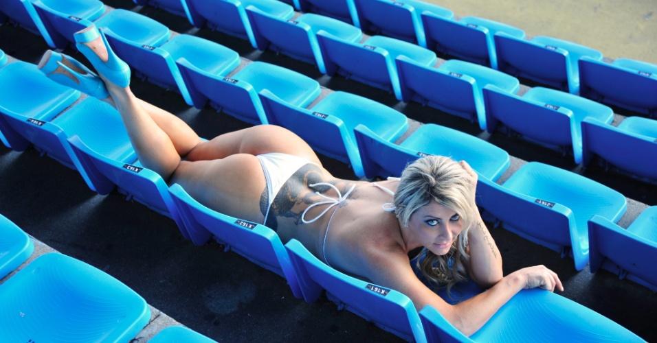 Luciane Hoppers, a bela do Avaí