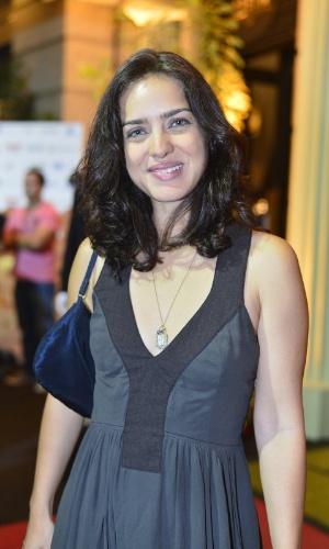 A atriz Taimmy di Calafiori durante o Festival do Rio 2012 (8/10/12)
