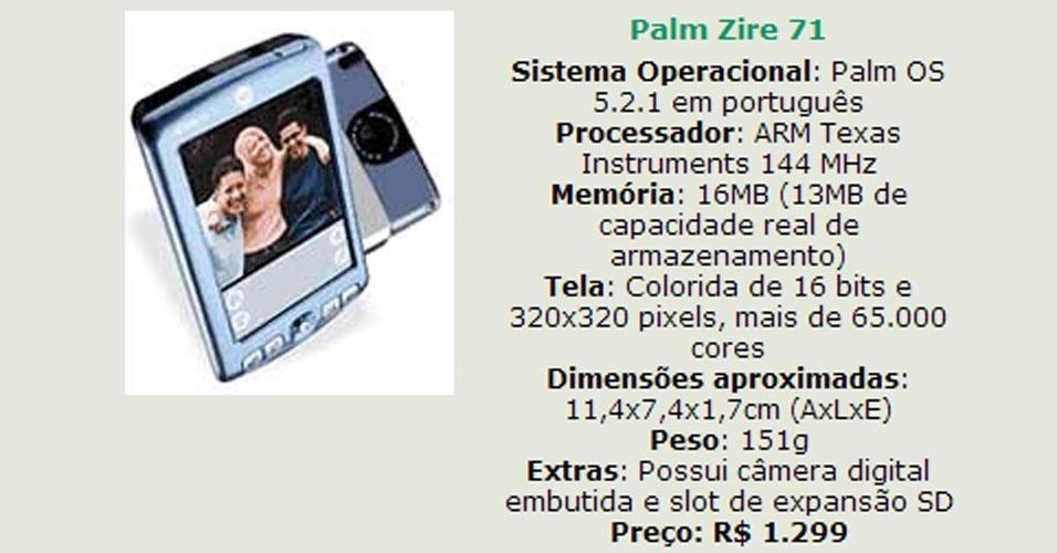 Em outubro de 2003,você precisava saber como comprar um handheld. O UOL Tecnologia, na época ainda chamado Mundo Digital, fez uma série especial de reportagens sobre os handhelds (também chamados de micro de mão). Na época, essas agendas turbinadas chegavam a custar R$ 4.000 no Brasil - por esse valor, hoje, dá para comprar um MacBook Pro. Acima, um dos modelos apresentados (clique em MAIS para ver o conteúdo original)