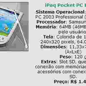 Em outubro de 2003,você precisava saber como comprar um handheld. O UOL Tecnologia, na época ainda chamado Mundo Digital, fez uma série especial de reportagens sobre os handhelds (também chamados de micro de mão). Na época, essas agendas turbinadas chegavam a custar R$ 4.000 no Brasil - por esse valor, hoje, dá para comprar um MacBook Pro. Acima, um dos modelos apresentados (clique em MAIS para ver o conteúdo original) - Reprodução