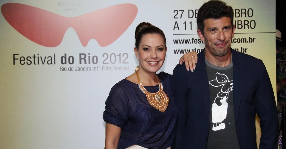 """Fabíula Nascimento e Milhem Cortaz divulgam o filme """"Dores de Amores"""" no Festival do Rio (7/10/12)"""