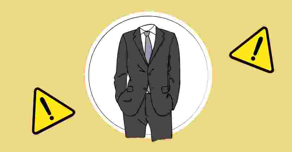 Muitos homens pensam que usar terno um número maior pode ser mais confortável. Em termos de estilo, o conjunto dá uma impressão de desleixo ou que você teve de pedir emprestado de alguém - Arte/UOL