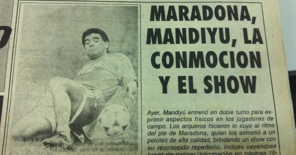 Passagem de Maradona por Corrientes foi um
