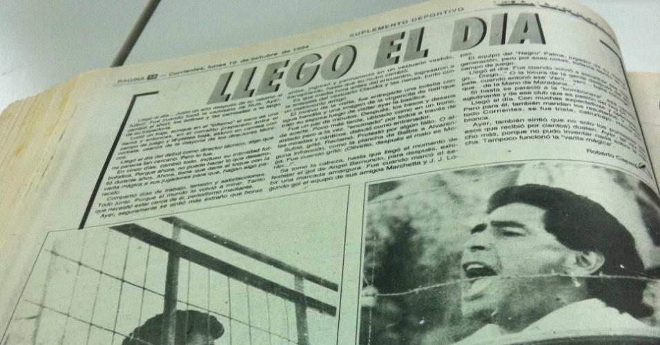 Reportagem sobre a estreia de Maradona como treinador