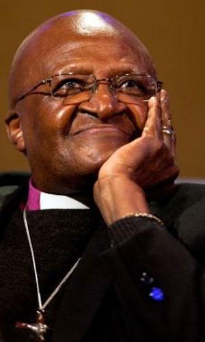 1984 - Desmond Tutu (África do Sul) - Por sua Liderança na campanha pelo fim do apartheid na África do Sul