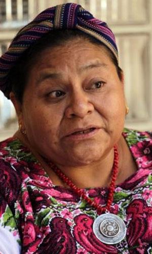 1992 - Rigoberta Menchú Tum (Guatemala) - Recebeu o Nobel pela sua campanha pelos direitos humanos, especialmente a favor dos povos indígenas