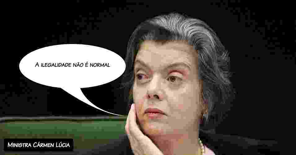 """9.out.2012 - """"A ilegalidade não é normal"""", disse a ministra Cármen Lúcia, rechaçando o argumento de caixa dois usado pela defesa dos réus - Nelson Jr/STF"""