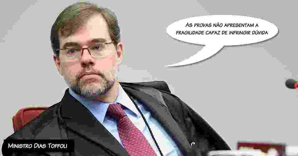 """9.out.2012 - """"As provas não apresentam a fragilidade capaz de infringir dúvida"""", afirmou Dias Toffoli sobre os parlamentares que receberam propina - Nelson Jr/STF"""